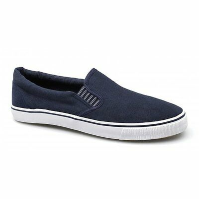 Shuperb Mens Canvas Yachting Deck Summer Shoes Navy Blue UK Size 6 to 13