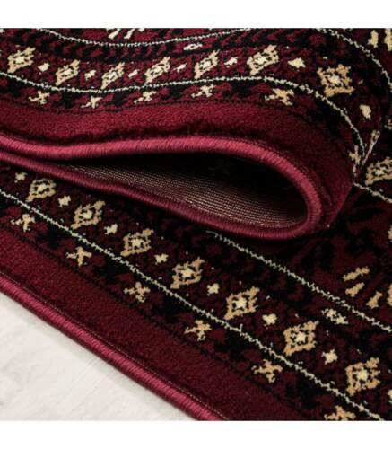 Orientteppich Klassischer Orientalisch Traditional Webteppich Schwarz Rot