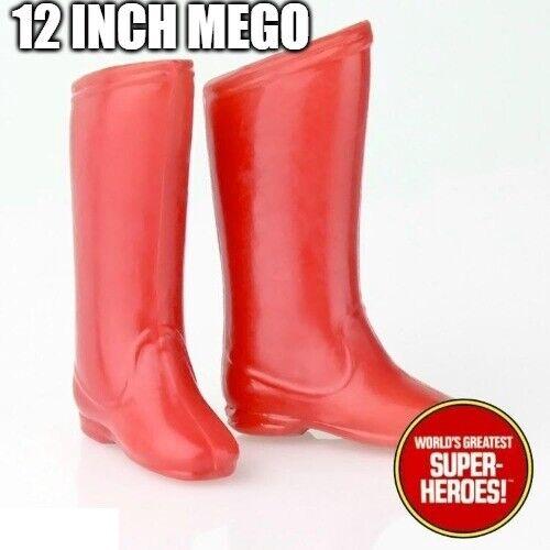"""Mego Superman boots reproduction pour 12/"""" figure wgsh parts lot"""