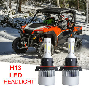 2 x H13 Bulbs LED Xenon HID Headlight Polaris 800 PRO-RMK (all models) 2011-2015