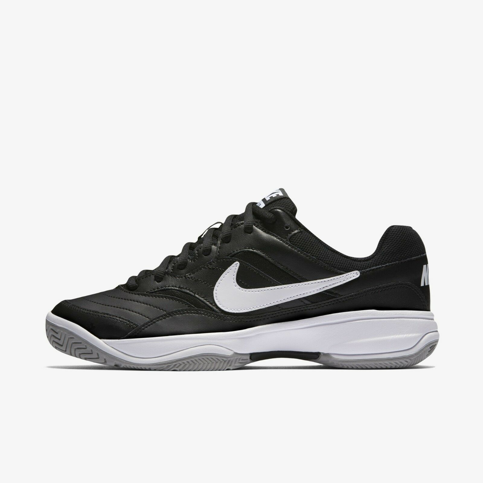 New Nike Men's Court Lite Tennis shoes Sneakers - Black White(845021-010)
