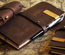 vintage Traveler's mini cute Notebook Cowhide diary genuine leather D0407