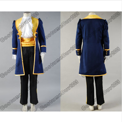 Beauty and the Beast Prince Adam Cosplay Costume Uniform Outfit Jacket Pants Set
