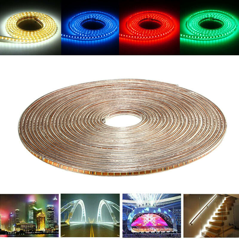 20M SMD3014 Waterproof LED Rope Lamp Party Home Christmas Indoor Outdoor Strip
