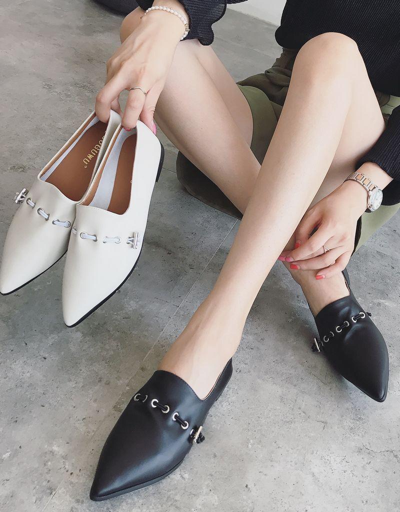 ballerinaschuhe mokassins damenschuhe schwarz-weiss komfortabel mode elegant