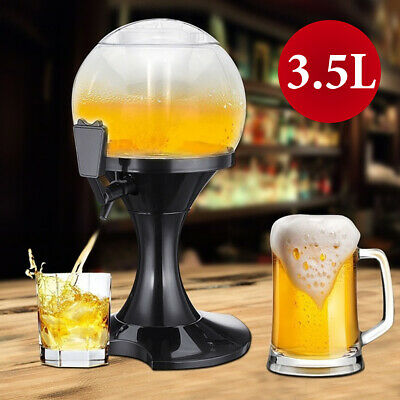 5l Beer Barrel + 6 Beer Glasses Beer Tower Beer Pillar Beer Drinks Dispenser Tap