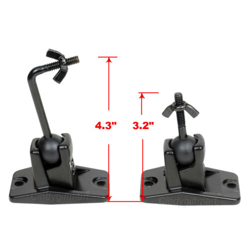 2x Speaker Wall Ceiling Mount Bracket Surround Sound Satellite Home Theater 1ST