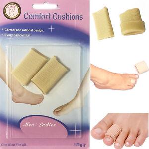 2 * Almohadillas de Gel Juanete Dedo Pie cuidado de calzado mordida talón manga Comodidad Almohadillas de uñas del dedo del pie