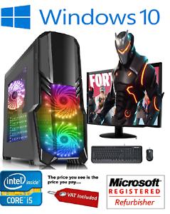 Fast-Gaming-PC-Computer-Bundle-Intel-Quad-Core-i5-16GB-1TB-Windows-10-2GB-GT710