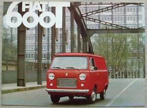 FIAT 600T VAN Commercial Vehicle Sales Brochure  c1965 #2278