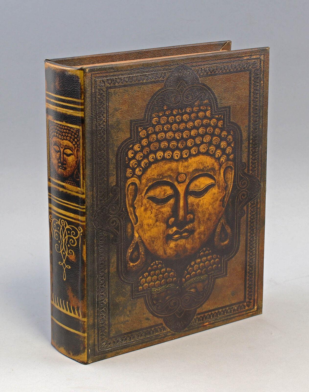 9973036 Schachtel Schatulle Box Buch Dekor Buddah 24 x 7 x 30 cm | Billig