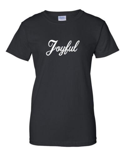 Ladies Joyful T-Shirt Present Tee T Shirt X-mas Gift Funny Christmas Gift