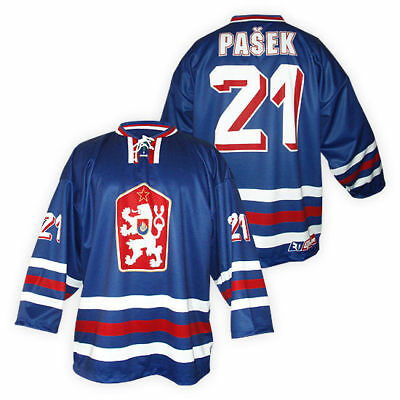 Team Czechoslovakia CSSR Ice Hockey BLUE Jersey Retro Custom Name and Number