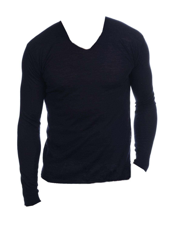 Balldiri 100% Cashmere Duvet Herren Pullover V-Ausschnitt maskulin nachtblau XL