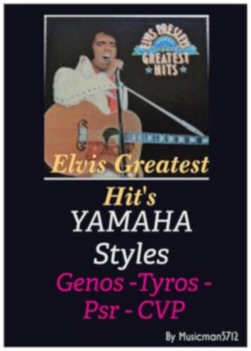 "Yamaha Tyros Genos Psr Styles /""ELVIS GREATEST HIT/'S/"""
