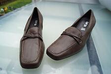 ara Damen Comfort Schuhe Mokassins Slipper Pumps Gr.7,5 H 41 braun leder Neu +6