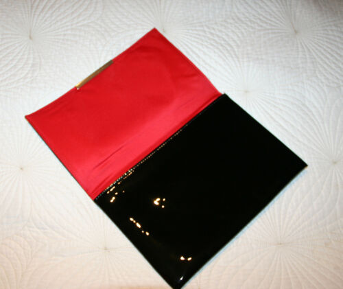 Clutch Leather Lancome Red Silk Heels Soles Interior With Patent Style Black ZwErqEt