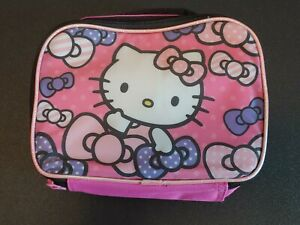 HELLO-KITTY-Lunchbox-PINK-Small-girls-NWOT-BACK-TO-SCHOOL-bts