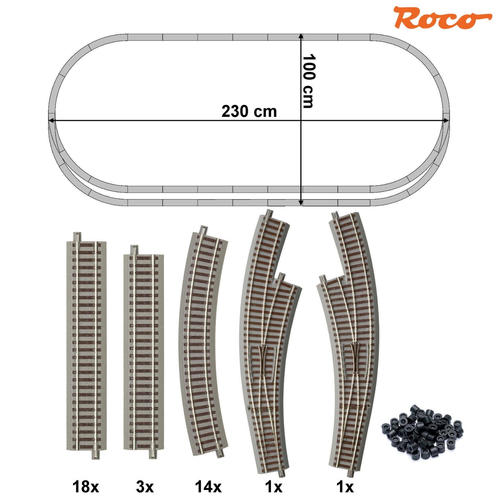 ROCO 61152-s1 h0 binario-Set 37 pezzi con 2 Arco Morbido + + Nuovo + +