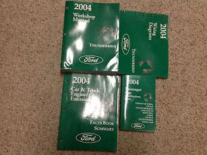 2004 FORD THUNDERBIRD T-BIRD Service Repair Shop Manual SET EWD + FACTS BOOK +