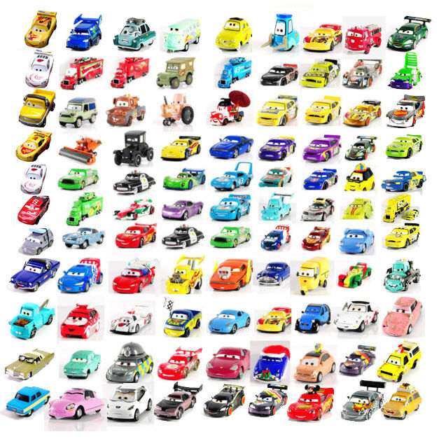 Disney pixar Diecast Cars 1-2 1:55 Metal Car Toy New And Loose