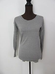 J-Crew-Gray-Wool-Linen-Blend-Long-Sleeve-Cardigan-Sweater-Size-XS