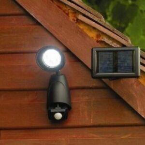 Black-LED-Motion-Sensor-Security-Wall-Light-Outdoor-Solar-Powered-Power-Garden