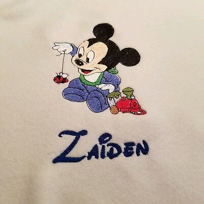 Personalized Embroidery Baby Fleece Mickey Mouse Blanket