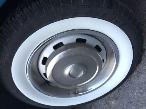 """15/"""" Rim white wall inserts vintage car truck ford chevy Plymouth buick ford amc"""