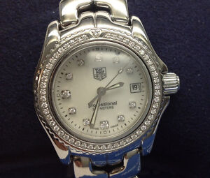 97685dca63d Image is loading Ladies-Tag-Heuer-Professional-200m-S-S-Diamond-Dial-