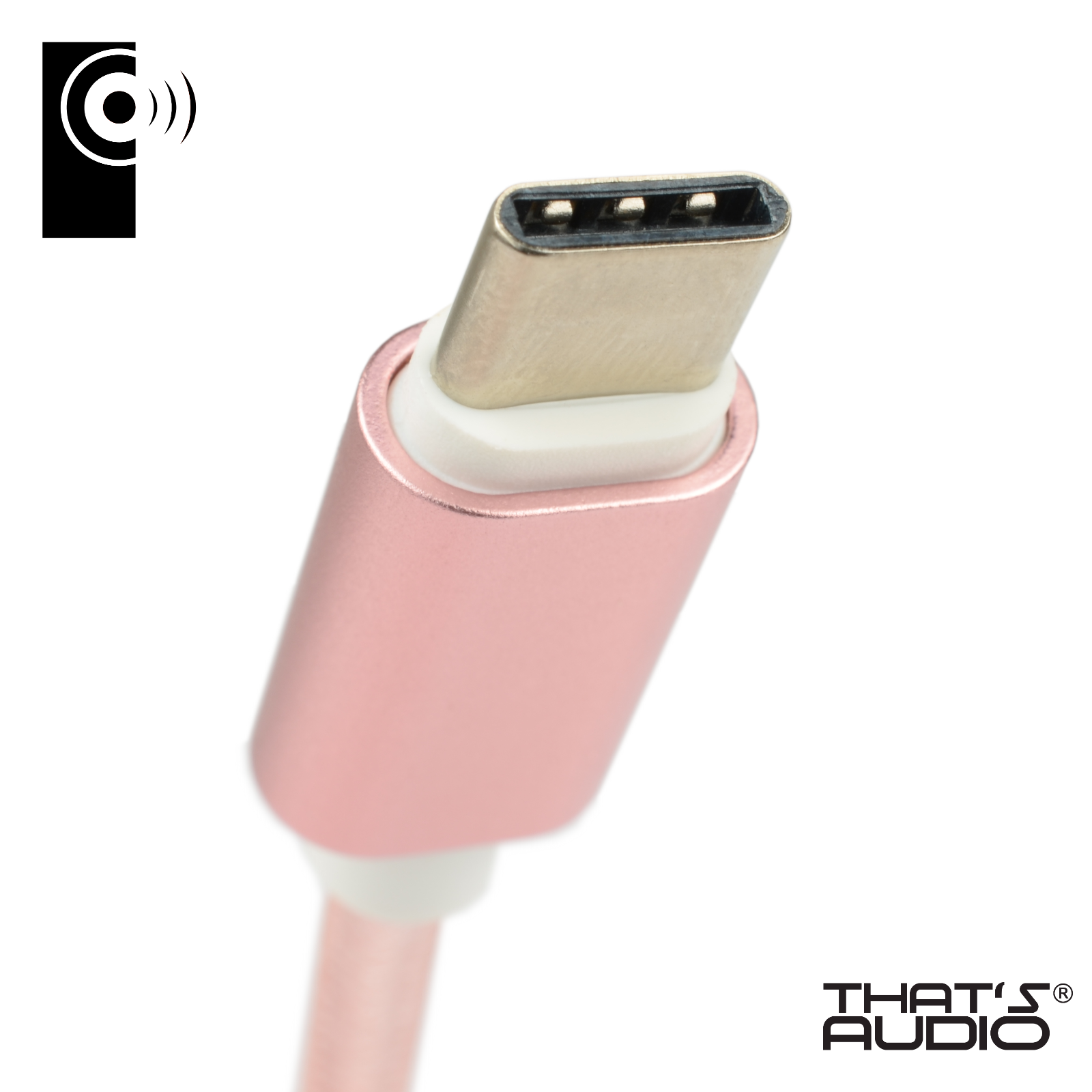 1m PINK Braided USB-A to USB-C 2.0 (Reversible) High Speed Data & Charge Cable