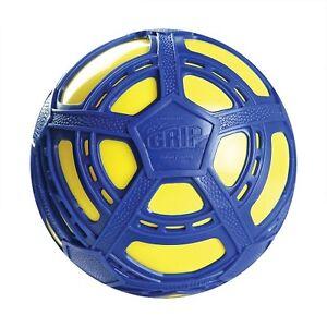 NEW-BRITZ-039-N-PIECES-E-Z-GRIP-SOCCER-BALL-BLUE-YELLOW-BMA853-OUTDOOR-TOYS-BALLS