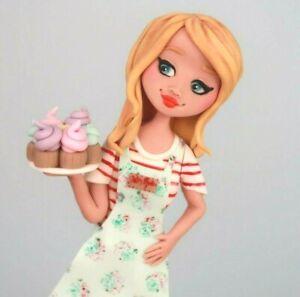 FORMAL DRESS CAKE TOPPER LADY BALLROOM PROM DEBS WOMAN EDIBLE figure 40TH 50TH