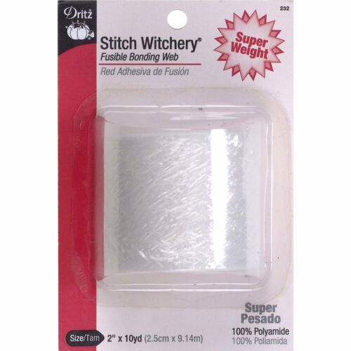 Dritz 232 Stitch Witchery Fusible Bonding Web Super Weight