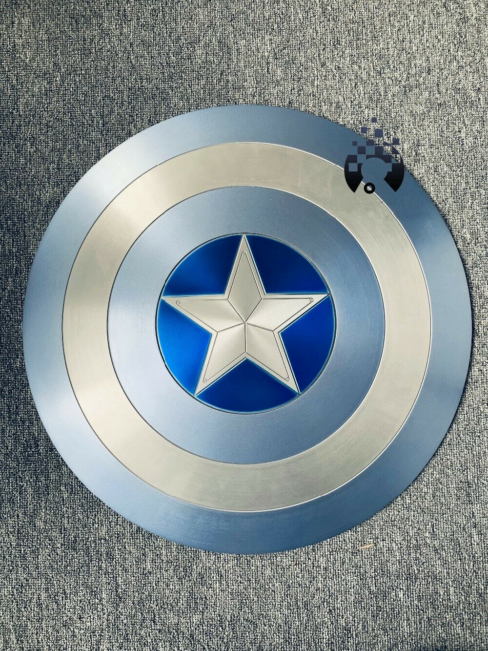 CAPITAN AMERICA ESCUDO Azul Winter Soldier Aluminio Escala 1 1, metal Shield