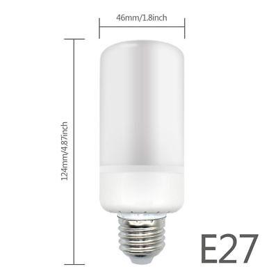 E27 E14 B22 LED Burning Light Flicker Flame Lamp Bulb Fire Effect Decorative DE
