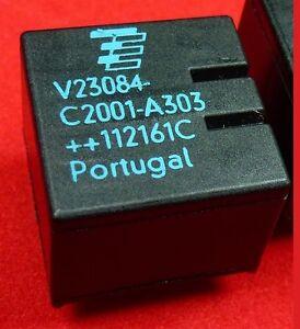 1X Relay V23084-C2001-A303 2X15A  DC12V Ricambio originale TYCO V23084C2001A303