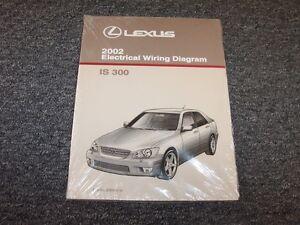 2002 lexus is300 sedan factory original electrical wiring diagram rh ebay com 2002 lexus is300 owner's manual 2002 lexus is300 owner's manual