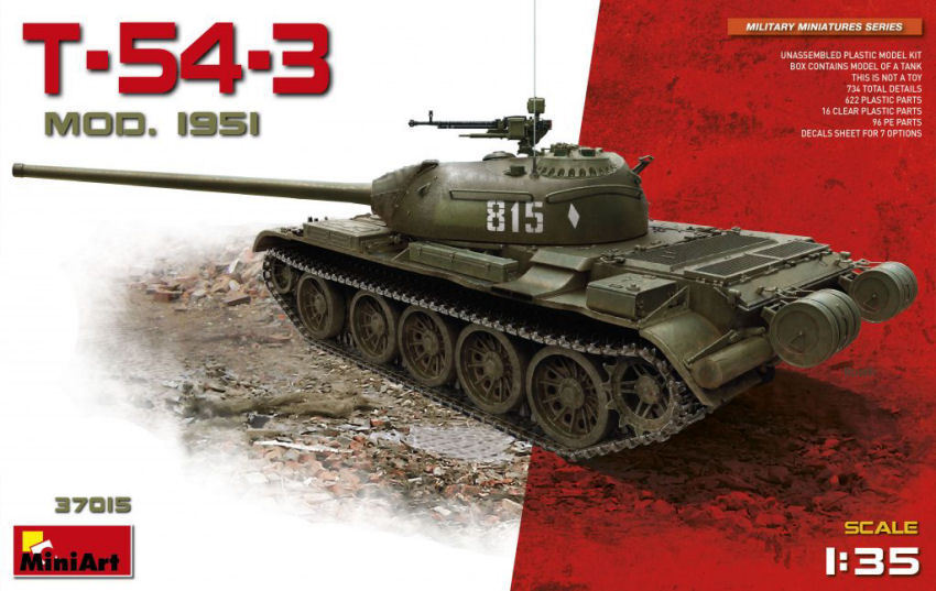 T-54-3 Soviet Medium Tank  Mod 1951 Plastic Kit 1 35 Model MINIART  site officiel