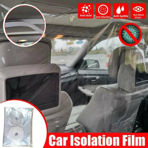 Car Divider Film Isolation Shield 4.6 x 6.6 ft Protective Pvc Taxi Uber Lyft Cab