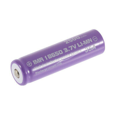 1pc High Drain Rechargeable Battery 18650 35A 3.7v LI-MN 2500mAh Button Top BE