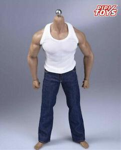 "1//6 Scale Soldier White Vest Clothes fit 12/""  PH M35 Muscle Male Action Figure"