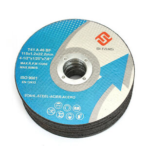"4/"" Resin Cutting Disc Cutting Wheel Grinding Disc for Metal Angle Grinder 10pcs"