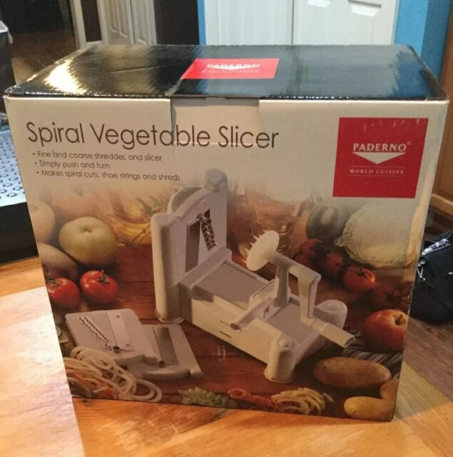 Paderno world cuisine plastic spiral vegetable slicer - Paderno world cuisine spiral vegetable slicer ...