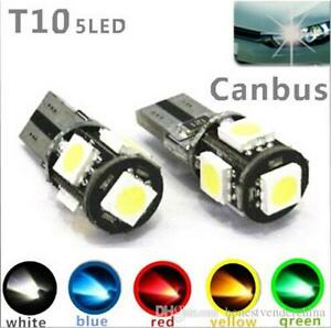 CAR-SIDELIGHT-BULBS-CANBUS-ERROR-FREE-5-SMD-LED-PARKING-LIGHT-T10-501-DAYTIME