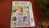 McCall's 6575 Boy Girl & Infant Hats 6 Design Soft Shoes SEWING PATTERN New Craft Supplies