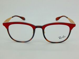 25791a6608 NEW Authentic Ray Ban RB 7112 5730 Havana Tortoise Red 51mm RX ...