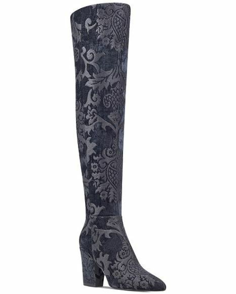 199 Nine West Womens Siventa Brocade Over-The-Knee Boots 7.5M
