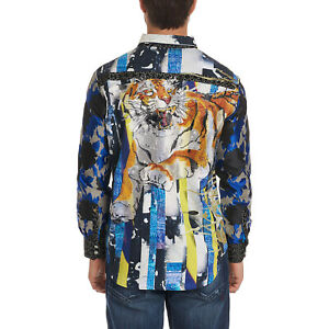 Robert-Graham-Fear-The-Tiger-Limited-Edition-Long-Sleeve-Shirt-LE-Small-S