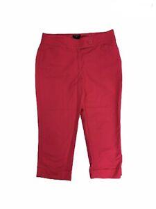 Ann-Taylor-Women-s-Size-4P-Curvy-Flat-Front-Pink-Capri-Pants